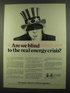1974 American Electric Power Ad - Real Energy Crisis