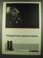 1974 Shure Vocal Master Ad - Carry Speech Insurance