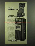 1974 Hitachi TRQ-34OR Tabe Recorder Ad - Finds the Way