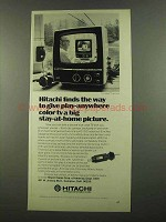 1974 Hitachi CU-110 TV Ad - Play-Anywhere Color