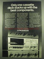 1974 Pioneer CT-7171 Cassette Deck Ad - Best Components