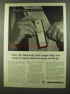 1974 Motorola Radio Pager Ad - Keep in Touch On the Go