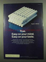 1974 True Cigarettes Ad - Easy on Your Mind