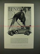 1928 Lincoln All-Weather Cabriolet Car Ad - NICE!!
