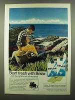 1974 Belair Cigarettes Ad - Start Fresh