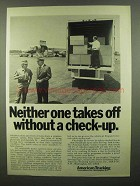 1974 ATA American Trucking Association Ad - Check-Up