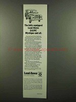 1974 Land-Rover Series III Truck Ad - Fully-Equipped