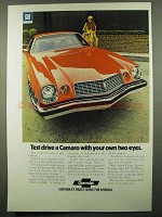 1974 Chevrolet Camaro Ad - Test Drive With Your Eyes