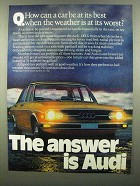 1974 Audi 100LS Ad - When Weather At Its Worst