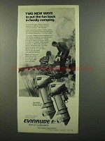 1974 Evinrude 9.9 and 15 HP Outboard Motors Ad