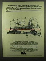 1974 INA Insurance Company of North America Ad, Society