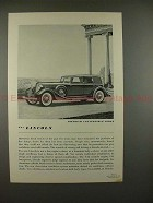 1934 Lincoln Dietrich Convertible Sedan Car Ad - NICE!