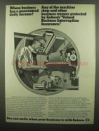 1974 Safeco Insurance Ad - Guaranteed Daily Income