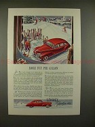 1941 Lincoln-Zephyr Car Ad - More Fun Per Gallon!!