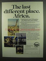 1974 Sabena Airways Ad - Last Different Place Africa