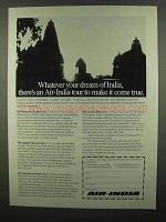 1974 Air India Ad - Whatever Your Dream of India