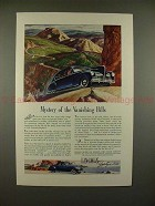 1941 Lincoln-Zephyr Car Ad - Mystery of Vanishing Hills