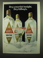 1974 Gilbey's Gin Ad - Dry a Martini Tonight