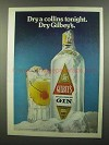 1974 Gilbey's Gin Ad - Dry A Collins Tonight
