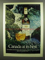 1974 Canadian Mist Whisky Ad - Canada At Best