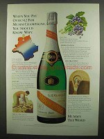 1974 Mumm Champagne Ad - When You Pay Over $12
