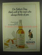 1974 Dewar's White Label Scotch Ad - On Father's Day