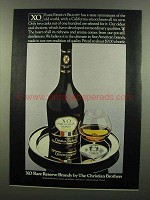 1974 Christian Brothers XO Rare Reserve Brandy Ad