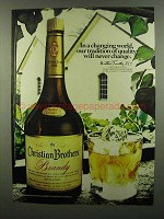 1974 Christian Brothers Brandy Ad - A Changing World