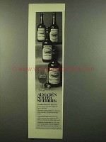 1974 Almaden Sherry Ad - Flor Fino, Cream, Golden