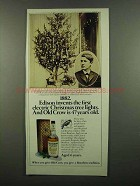 1974 Old Crow Bourbon Ad - Edison Christmas Lights