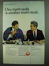 1974 JAL Japan Air Lines Ad - One Man's Sushi