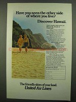 1974 United Air Lines Ad - Discover Hawaii