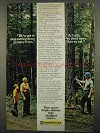 1974 Caterpillar Tractor Co. Ad - Stop Cutting Trees