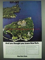 1974 New York State Tourism Ad - You Thought You Knew