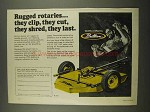 1974 Brillion Rotaries Ad - They Clip, Cut, Shred, Last