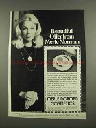 1974 Merle Noman Cosmetics Ad - Beautiful Offer