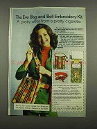1974 Eve Cigarettes Ad - Bag and Belt Embroidery Kit