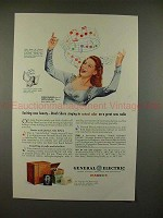 1945 GE FM Radio Ad w/ Dinah Shore - Exciting Beauty!