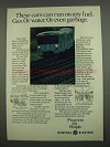 1974 General Electric Ad - Run On Any Fuel Even Garbage