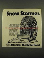 1974 Seiberling Snow Power Radial Tire Ad - Stormer