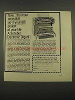 1974 Schober Organ Ad - Enjoyable Do-it-Yourself