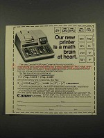 1974 Canon F-10P Calculator Ad - A Math Brain at Heart
