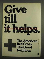 1974 American Red Cross Ad - Give Till it Helps