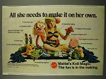 1974 Mattel Knit Magic Ad - All She Needs to Make It