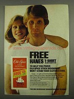 1974 Old Spice Stick Deodorant Ad - Hanes T-Shirt