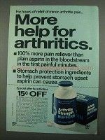 1974 Bufferin Strength Bufferin Ad - For Arthritics