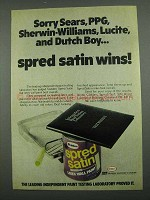 1974 Glidden Spread Satin Wall Paint Ad - Sorry PPG