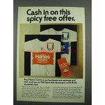 1974 Hanes T-Shirts Ad - Cash in On Spicy Free Offer