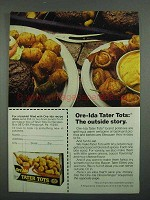 1974 Ore-Ida Tater Tots Ad - The Outside Story