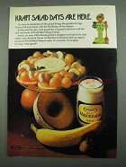 1974 Kraft Mayonnaise Ad - Salad Days Are Here